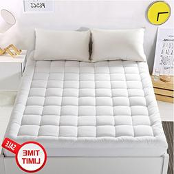 """WARM HARBOR Mattress Pad Cover with 18"""" Deep Pocket Pillow"""