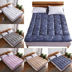 Mattress Pad Cover Bed Topper Protector Pillow Top Quilted K