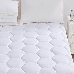 Mattress Pad Cover Full Size - Hypoallergenic Quilted Fitted