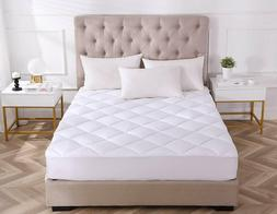 Mattress Pad Cover Cooling Hypoallergenic Topper Quilted Fit