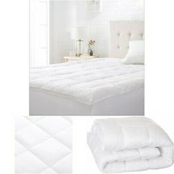 Mattress Pad Cover King Size Pillow Top Topper Thick Cotton