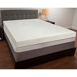 "Mattress Pad. Orthopedic Memory Foam 4"" Topper Pillow For Op"