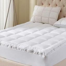 Mattress Pad Queen Size 400TC Cotton Top 3M Water Resistant