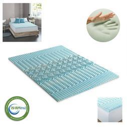 Cooling Gel Memory Foam Mattress Pad Soft Bed Topper Twin Fu