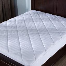 puredown Mattress Pad Topper, Box Quilt Design, 500 Thread C
