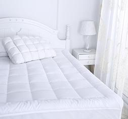 Mattress Pad with Fitted Skirt, King Size Full Down Alternat