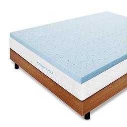 Lauraland Mattress Topper, Gel-Infused Memory Foam Mattress