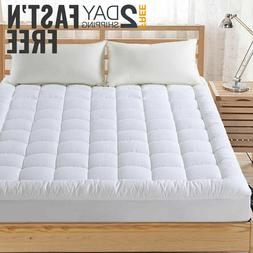 Mattress Topper Bed Pad Cover Pillow Top Soft Breathable Hyp