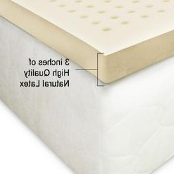100% Natural Latex Mattress Topper 3 Inches Medium King with