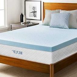 RUUF Mattress Topper, Gel-Infused Memory Foam With Cooling T