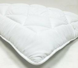 mattress topper pad with straps reversible down alternative