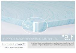 """Foam Global - Mattress Topper Twin XL Gel memory foam 1.5"""""""