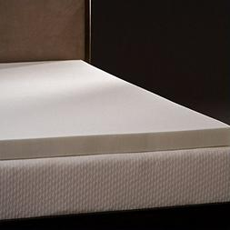 Comfort Magic Mem-Cool 3 Inch Memory Foam Mattress Topper -
