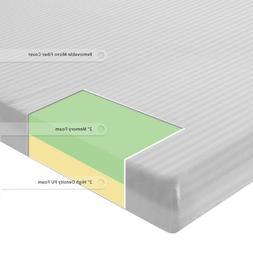 Sleep Master 4-Inch Memory Foam Mattress Green Tea Topper wi