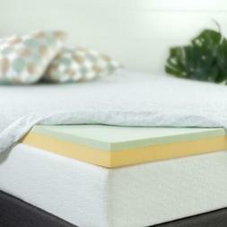 Zinus Memory Foam Mattress Topper 3 Inch Twin Size Bed Bedro