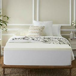 Sleep Innovations 2-inch Memory Foam Mattress Topper, Made i