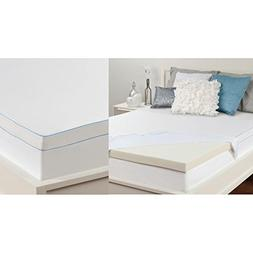 Sealy 3 Inch Memory Foam Mattress Topper  W / Machine Washab
