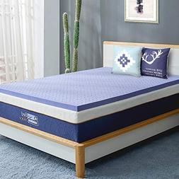 BedStory Memory Foam Mattress Topper Full, 3 Inch Lavender I