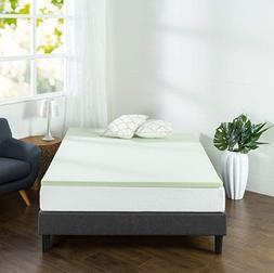 ZINUS Memory Foam Mattress Topper Pad Hypoallergenic Bed Top
