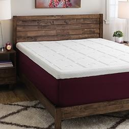 3-Inch Memory Foam Quilted Mattress Topper, Made from 100-Pe