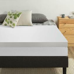 4inch Memory Foam Mattress Topper - Mattress Pad, Foam Bed,