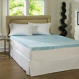 4-Inch Memory Foam Mattress Topper,Firm,Queen 59 x 79 Inches