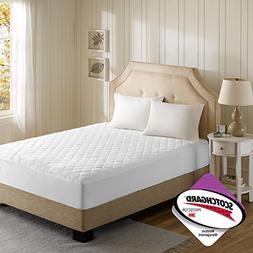 Beautyrest - 3M Scotchgard Heated Mattress Pad Cal King Size