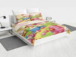 Modern Girls Bedding Sets Queen Yummy Donuts Sweet Land Cupc
