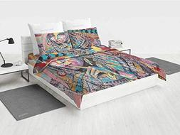 Modern Art Girls Bedding Sets Queen Sexy Girl with Tribal Dr
