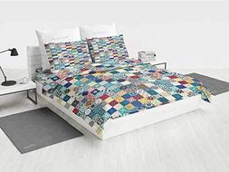 Moroccan uozzi Bedding 3 Piece Duvet Cover Set with Zipper O