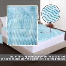 Narrow Twin Mattress Topper Comfort Rx 5-Zone Foam Two Inche