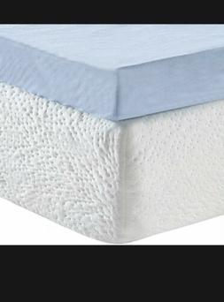"NEW Classic Brands 3"" Ventilated Gel Memory Foam Mattress To"