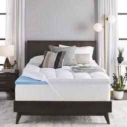 *NEW *Sleep Innovations 4-inch Dual Layer Gel Memory Foam Ma