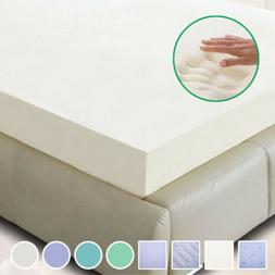 "2"" 3"" 4""  Comfort Bed Mattress Pads Topper Memory Foam TWIN,"