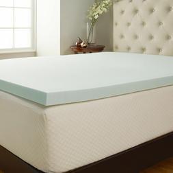 """New Comfort Tech SERENE Comfort Foam 2"""" Mattress Topper Full"""