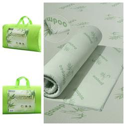 NEW COZY BAMBOO 1 INCH MEMORY FOAM MATTRESS TOPPER PROTECTOR