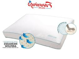 New Opened Iso-Cool Memory Foam Pillow, Gusseted Side Sleepe