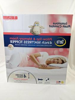 new pillow top memory foam mattress topper
