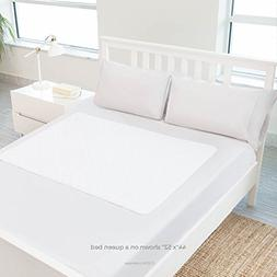 "Linenspa 44"" x 52"" Non Skid Waterproof Sheet Protector with"
