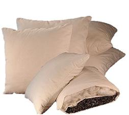 White Lotus Home OBWWSP04 Buckwheat & Wool  Sleep Pillow wit