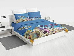 Ocean Kids Bedding Sets Fish Schools Swimming Submerged Anci