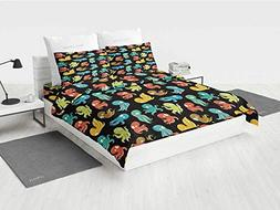 Octopus Versace Bedding Set Octopus Cartoon Drawing Style Fu