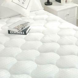 Organic Mattress Pad 300TC Cotton Top Topper Bed Protector C