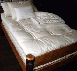 Holy Lamb Organics Quilted Ultimate Wool Mattress Topper - X