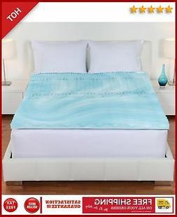 "Orthopedic Mattress Topper Twin Size 2"" 5 Zone Foam Pad Bed"