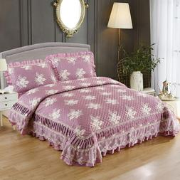 Patchwork Floral Bedspread Queen <font><b>size</b></font> Be