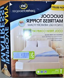 "Serta Perfect Sleeper DuoCool 3"" Twin Gel Memory Foam Mattre"