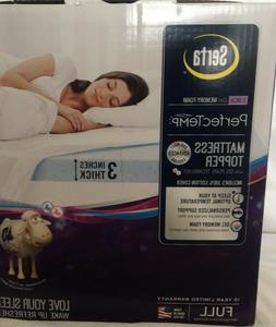 perfectemp mattress topper 3 gel memory foam
