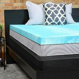 "Sealy Performance 3"" Gel Foam Mattress Topper Washable Cover"