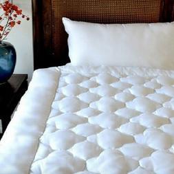 Pillow Top Mattress Topper Pad Queen Size Gel Fiber Fill Hyp